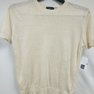 Theory Linen Blend Basic Tea Sag Harbor Size Small